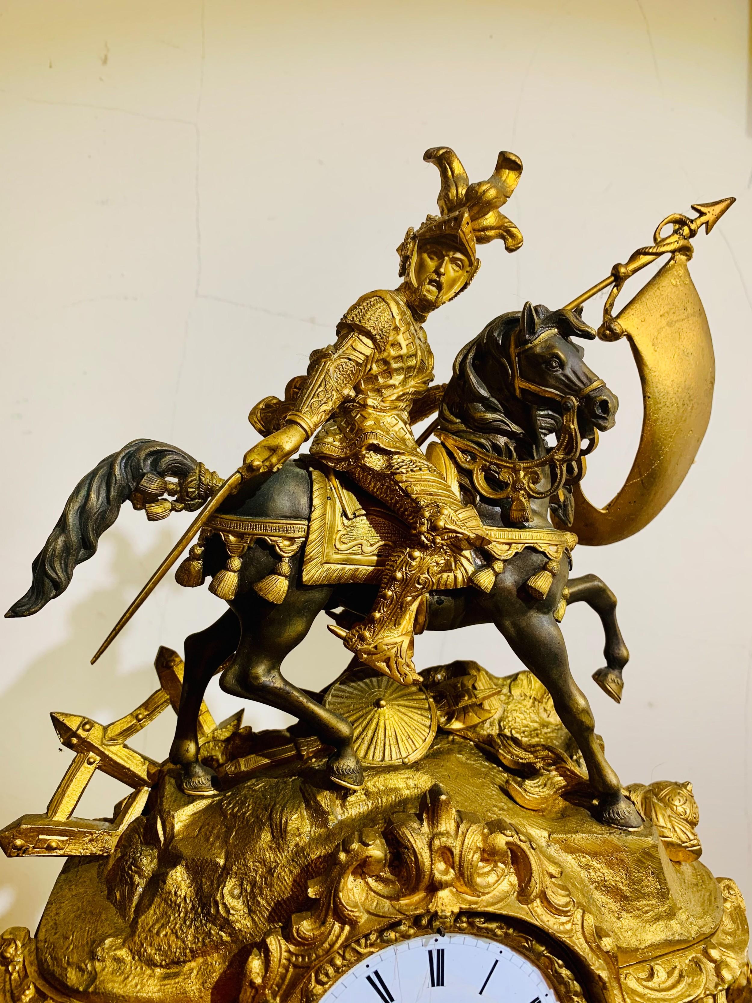 gilt bronzebrass mantel clock