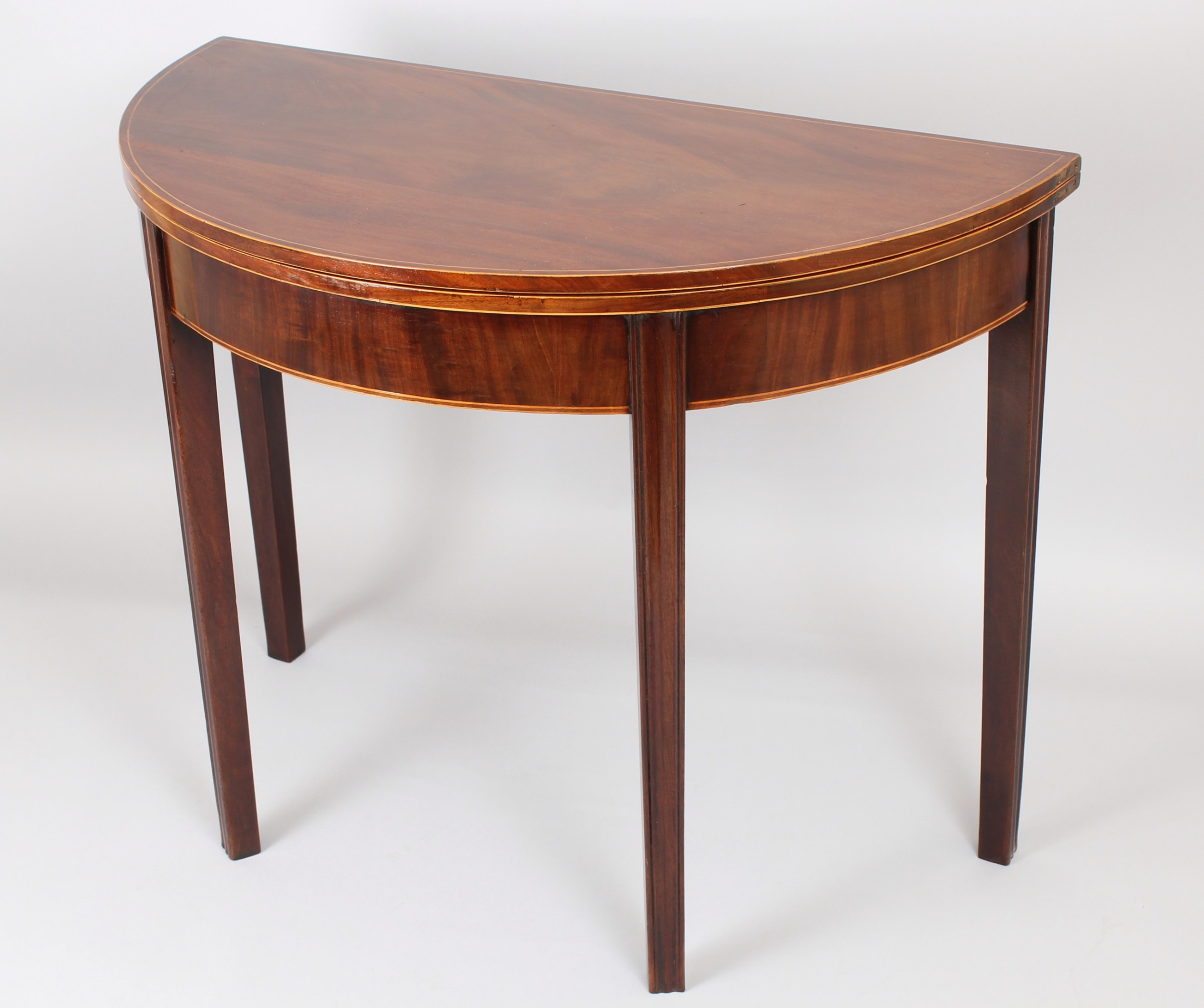 george iii period mahogany semicircular tea table