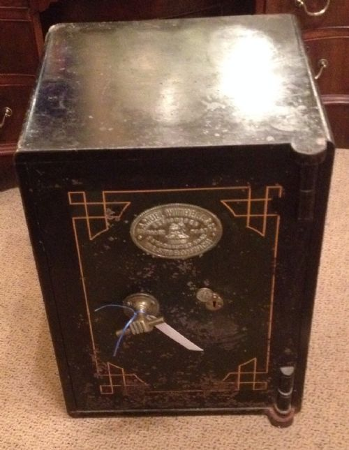 Antique edwardian safe by samuel withers and co complete with keys
