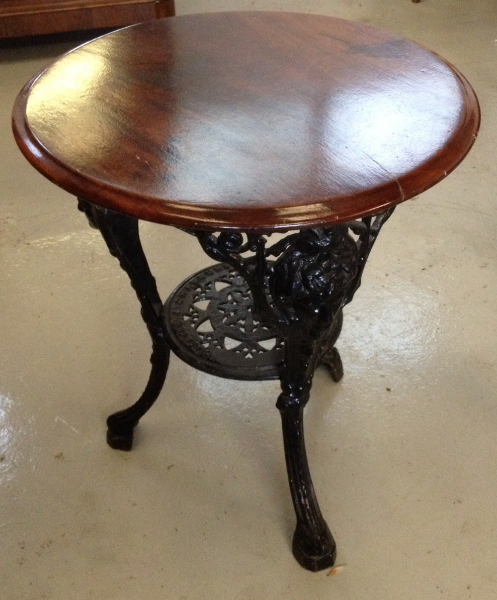 Dealerships Open On Sunday >> Victorian Cast Iron Pub Table Caskell Chambers, Birmingham | 291185 | Sellingantiques.co.uk