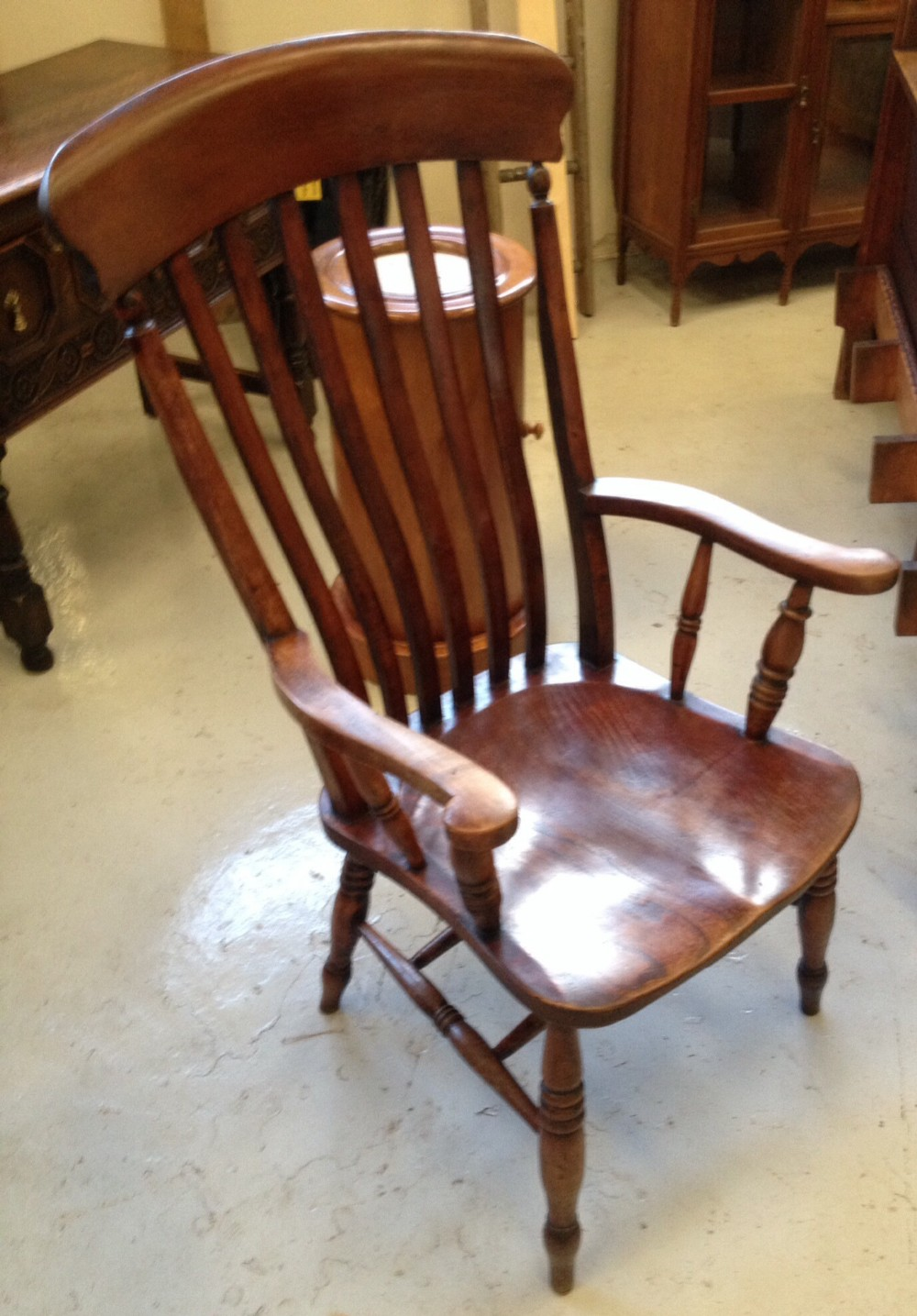 Dealerships Open On Sunday >> Victorian Yorkshire Slat Back Kitchen Chair | 297248 ...