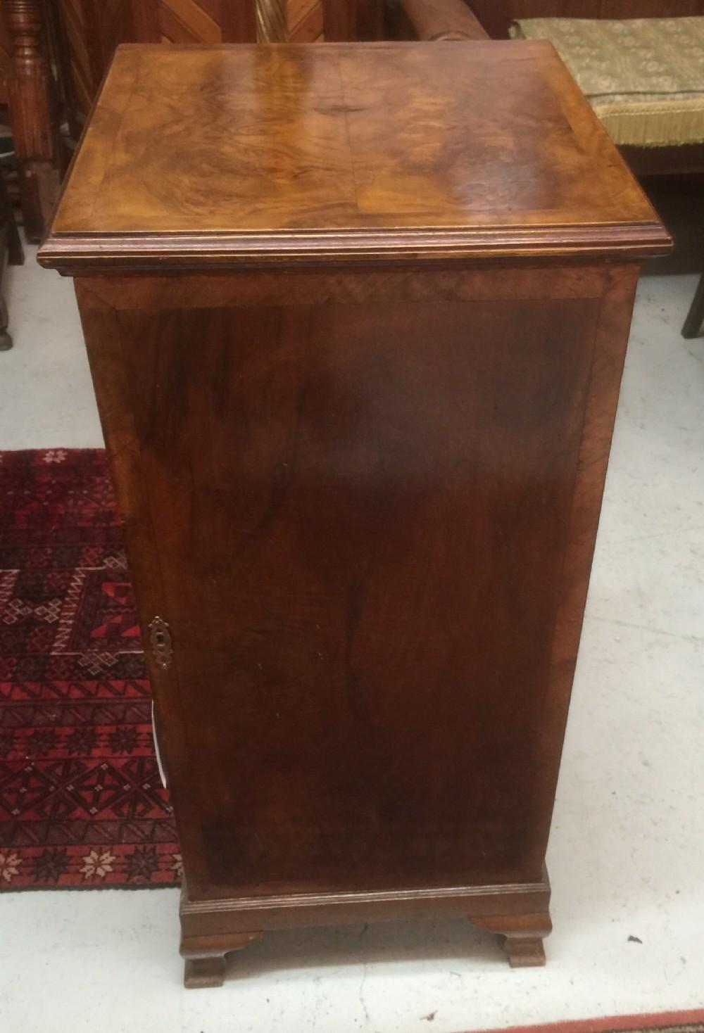 art deco burr walnut record cabinet - Art Deco Burr Walnut Record Cabinet 352780 Sellingantiques.co.uk