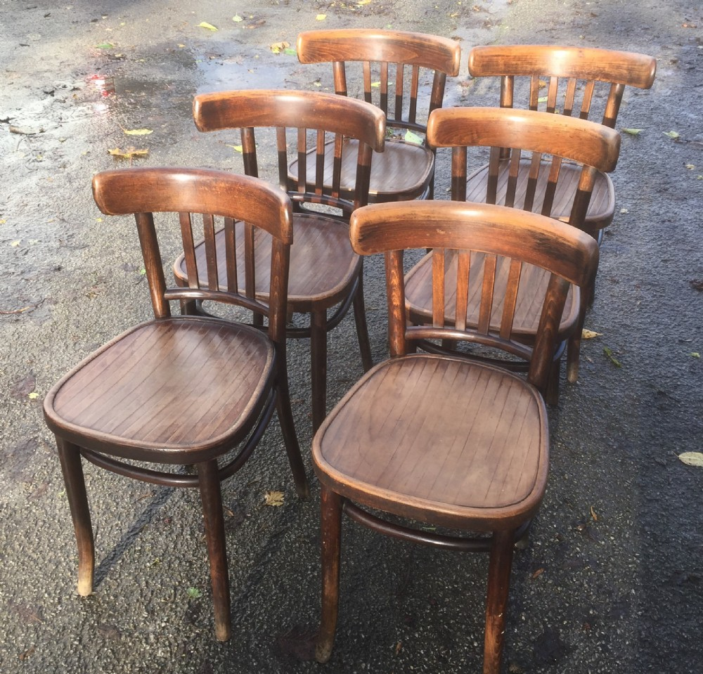 Perfect Six Bentwood Cafe Chairs Circa
