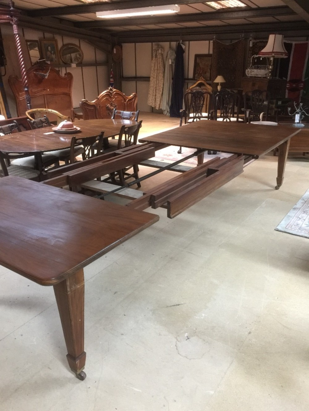 14 seater 13 foot wind out dining table for restoration for 14 seater dining table