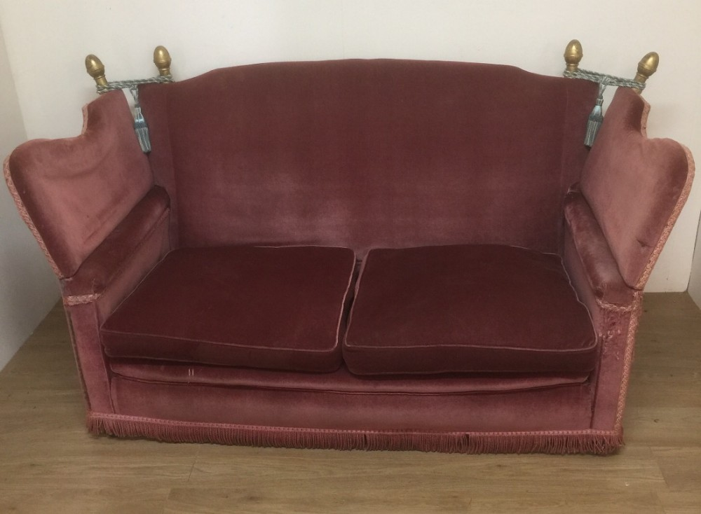 Victorian Country House Knole Sofa For Reupholstery