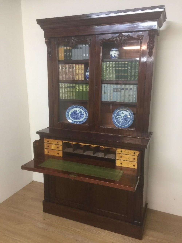 nineteenth century mahogany secretaire bookcase
