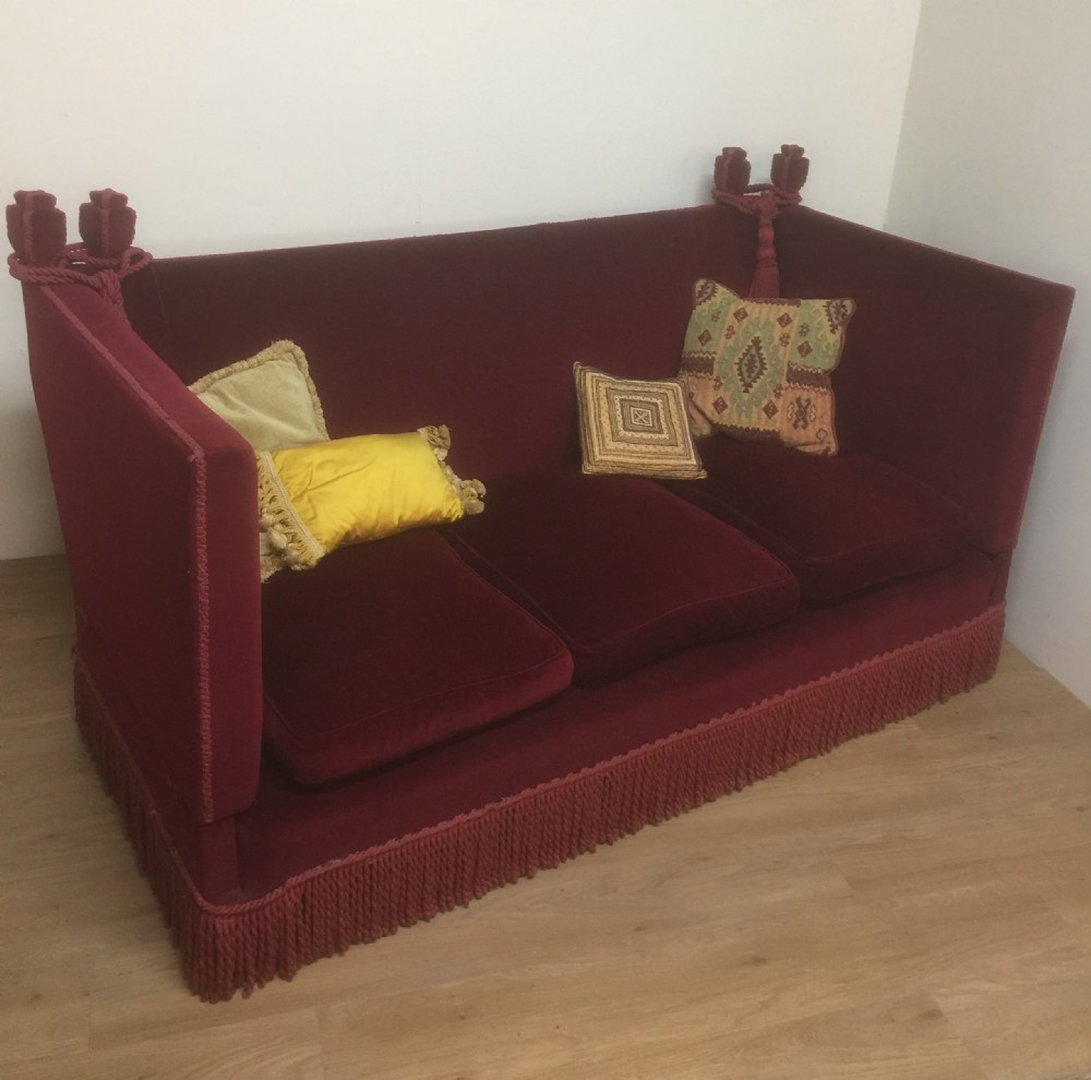 Nineteenth Century Country House Knole Sofa