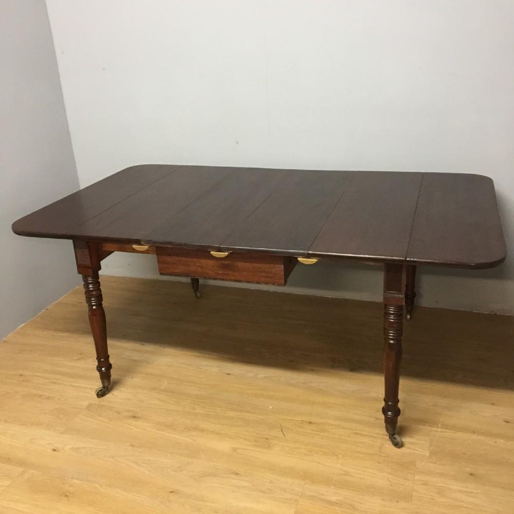 regency mahogany extending six seater dining table circa 1830