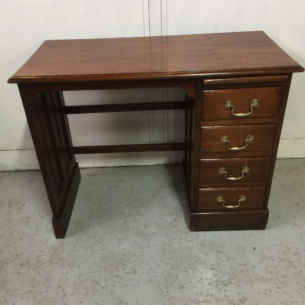 edwardian mahogany 4 drawer childs desk