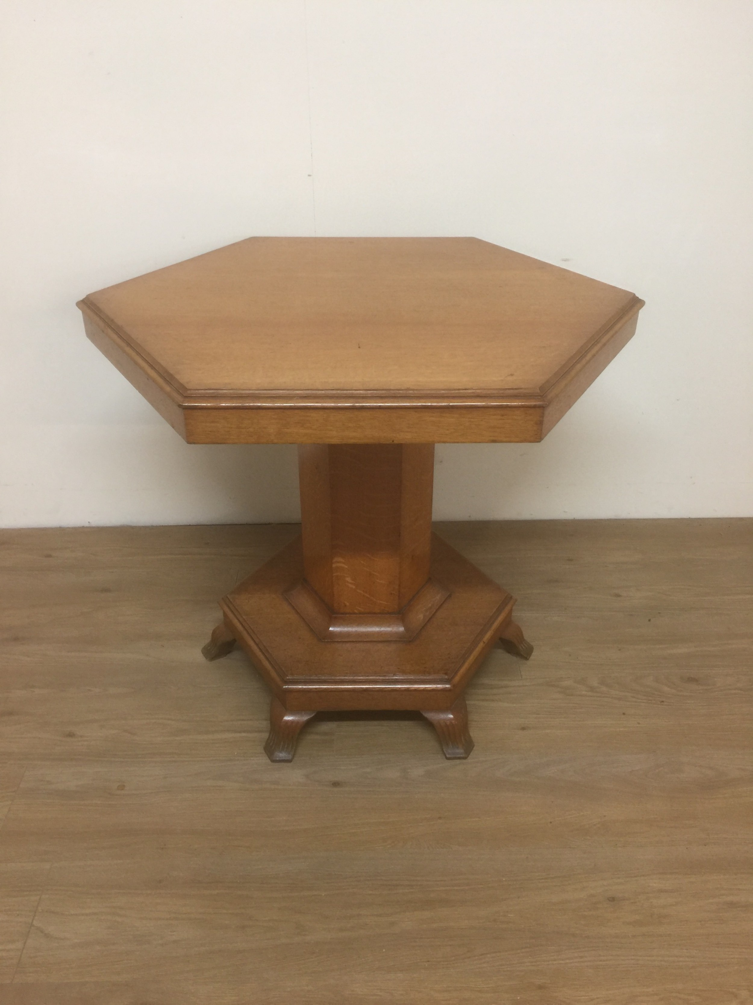 nineteenth century golden oak centre table