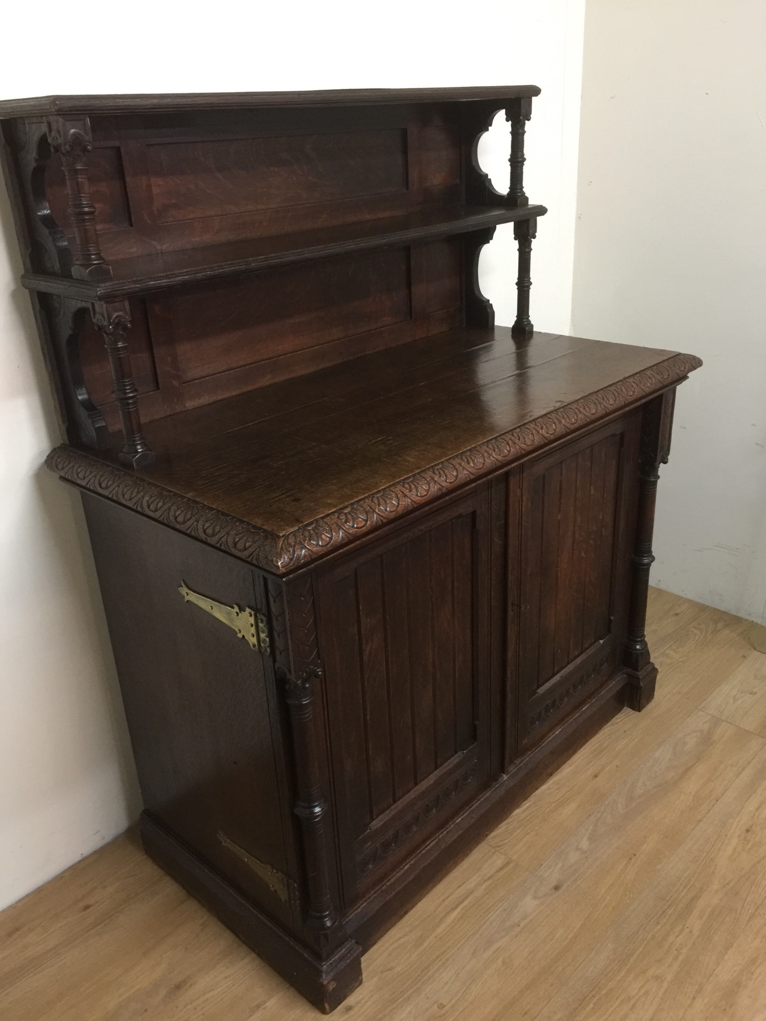 nineteenth century oak arts and crafts side cabinet