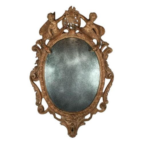 17th century german barock carved mirror
