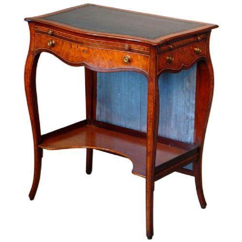 george iii serpentine inlaid writing dressing table