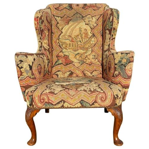 early 18th century walnut wing chair george i period