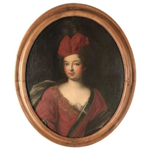 17th century oil portrait of a lady