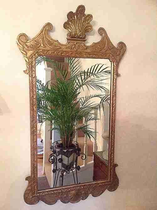 gilded georgian pier mirror of large size c1770