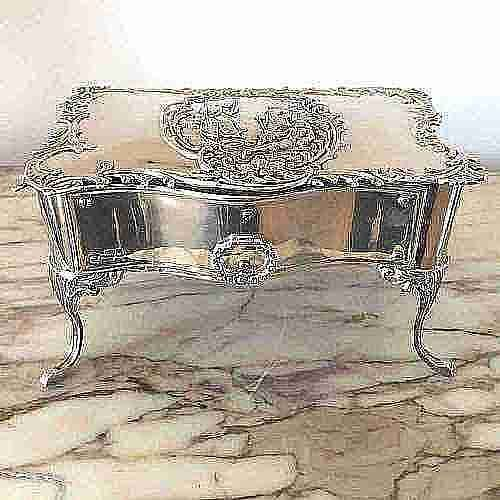 large silver jewellery box in the form of a commode william comyns london 1901