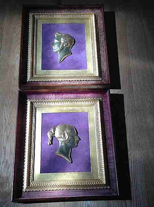 bronze gilt plaques victoria and albert gilt frame within rosewood frame c1850