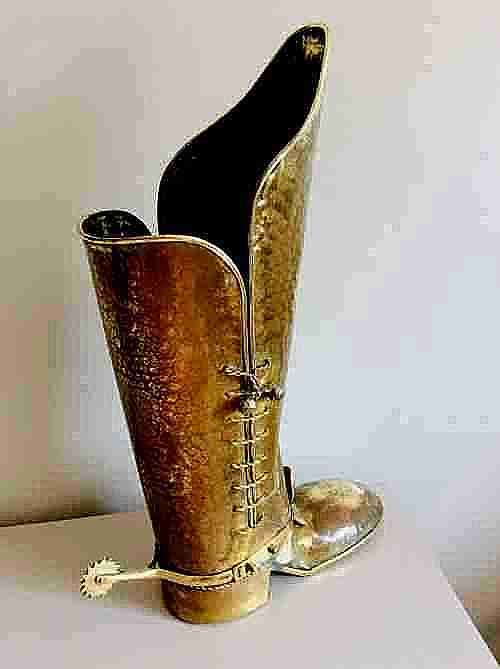 umbrella stick standbrass cavalier boot umbrella stick stand fantastic condition c1910