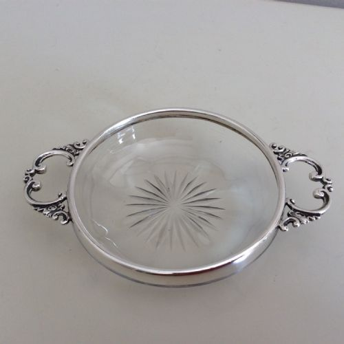 silver dishheart shaped dishwith heart shaped handles and silver spoon henry matthews co birm 1903