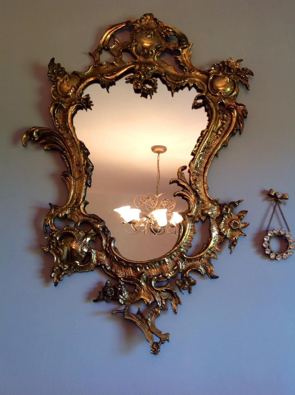 Gilded Roccoco Mirror English C1830 28 5 Ins Tall 344137