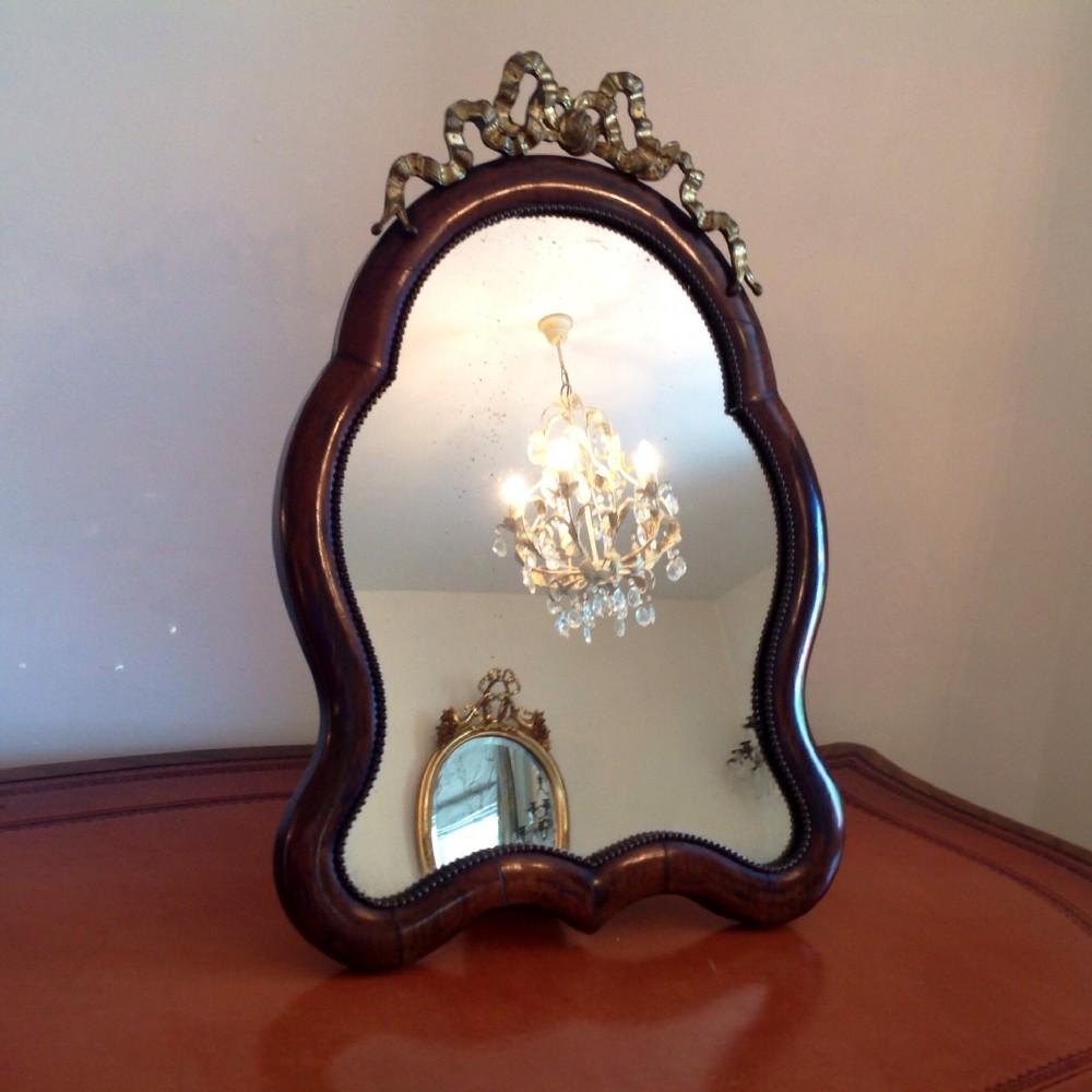 mirrora ladies shaped rosewood and ormolu easel table mirror c1860