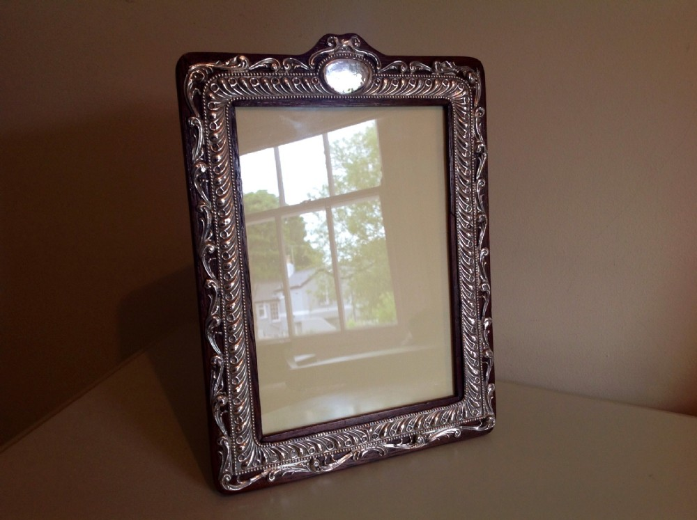 large silver oak frame henry mathews 1908 11 x 8 ins