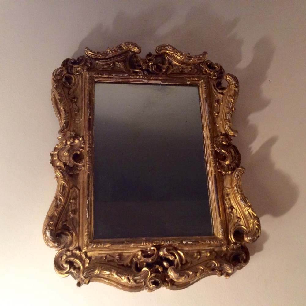 carved walnut and gesso 18th c french frame c1790