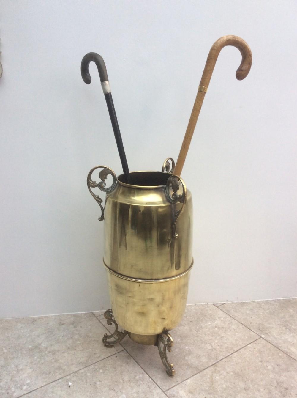 a brass umbrella stick stand c1870