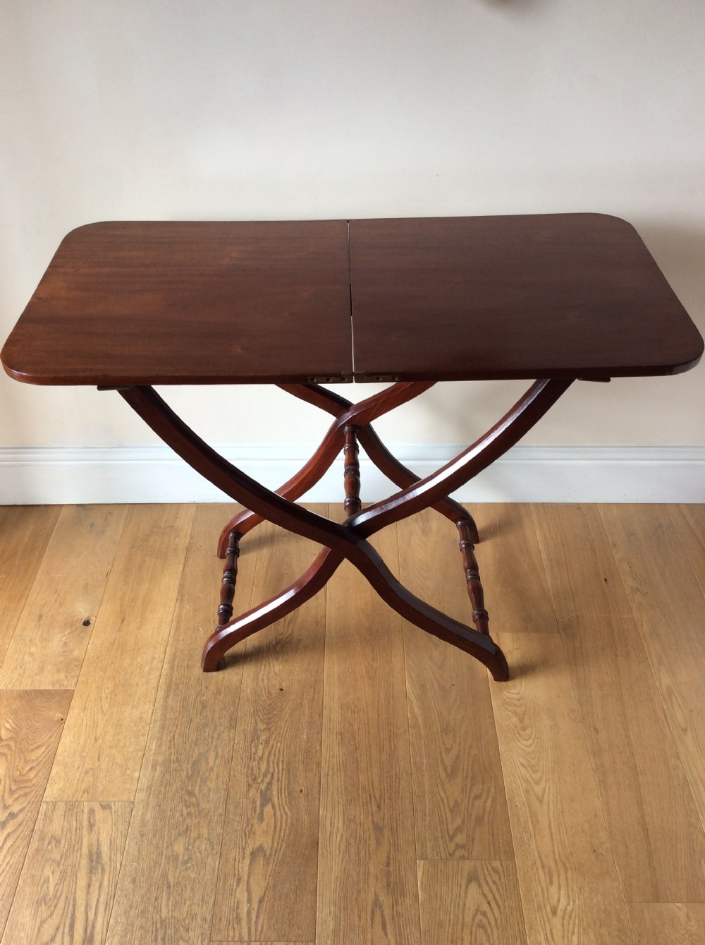mahogany tablefolding coaching tablec1860