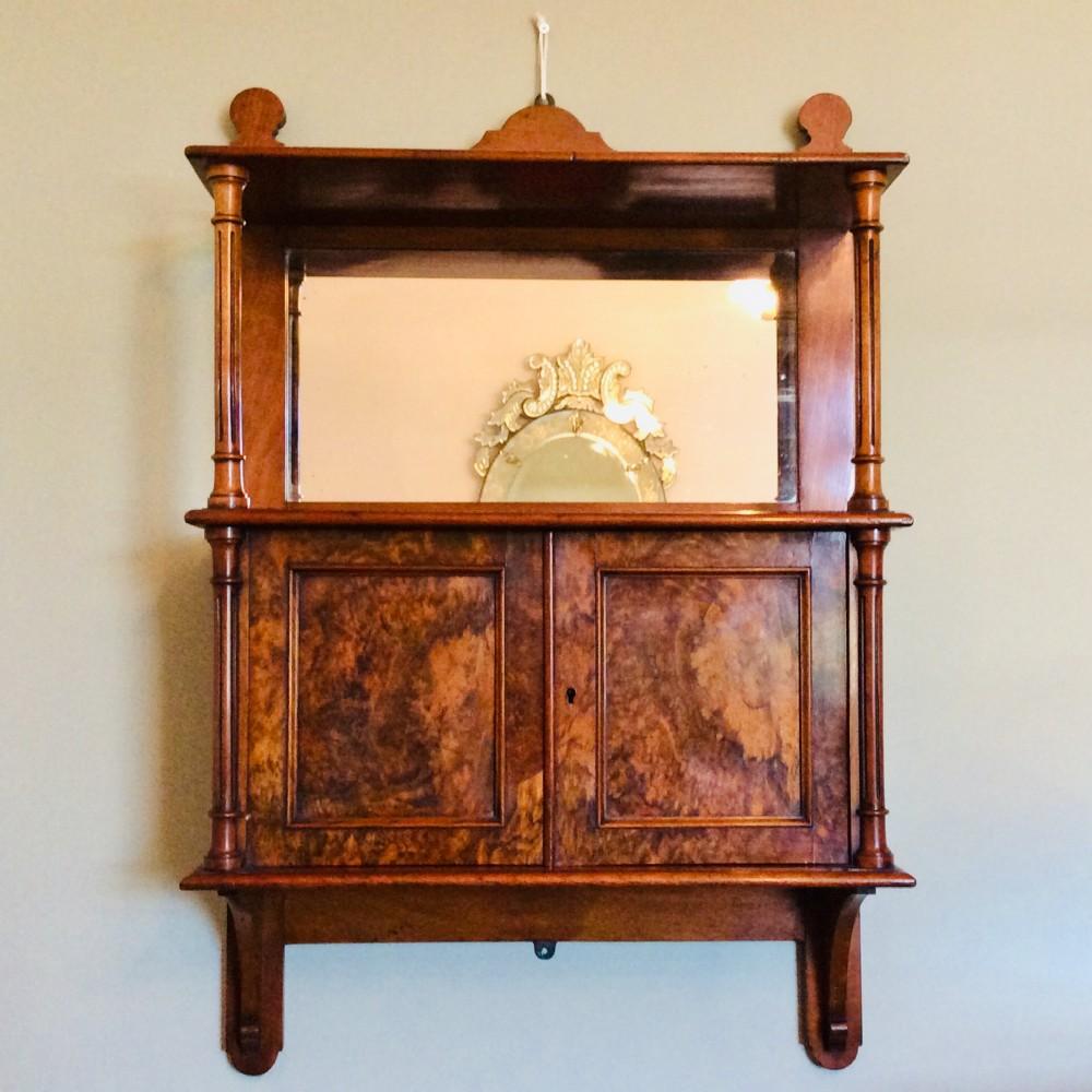 figured walnut cabinet by g trollope sons belgravia london c1860 original label