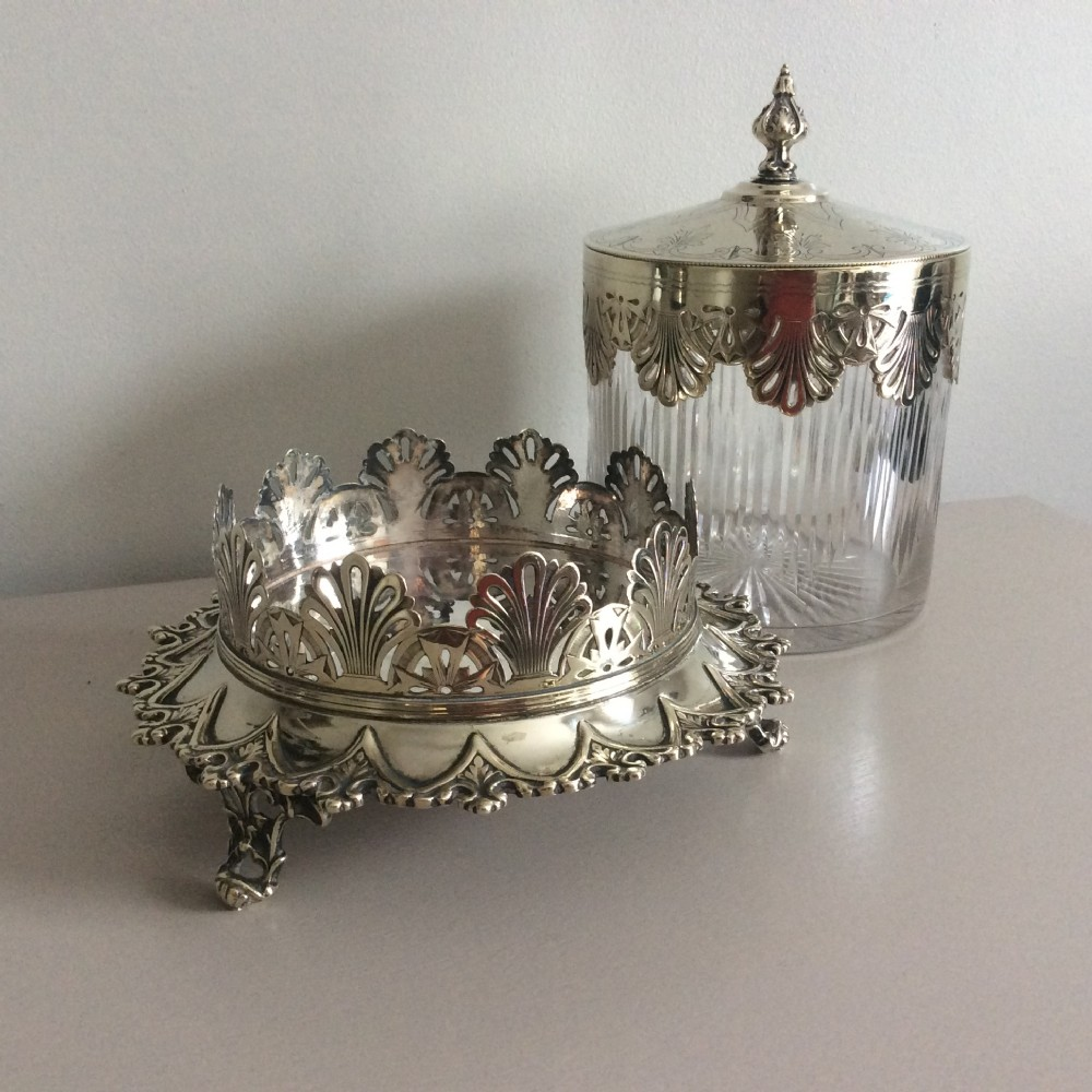 silver ice bucket icicle designearly victorian silver plate and cut glass ice bucket c 1840