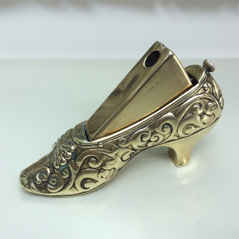 antique brass cigar cutter regency court shoe c1900