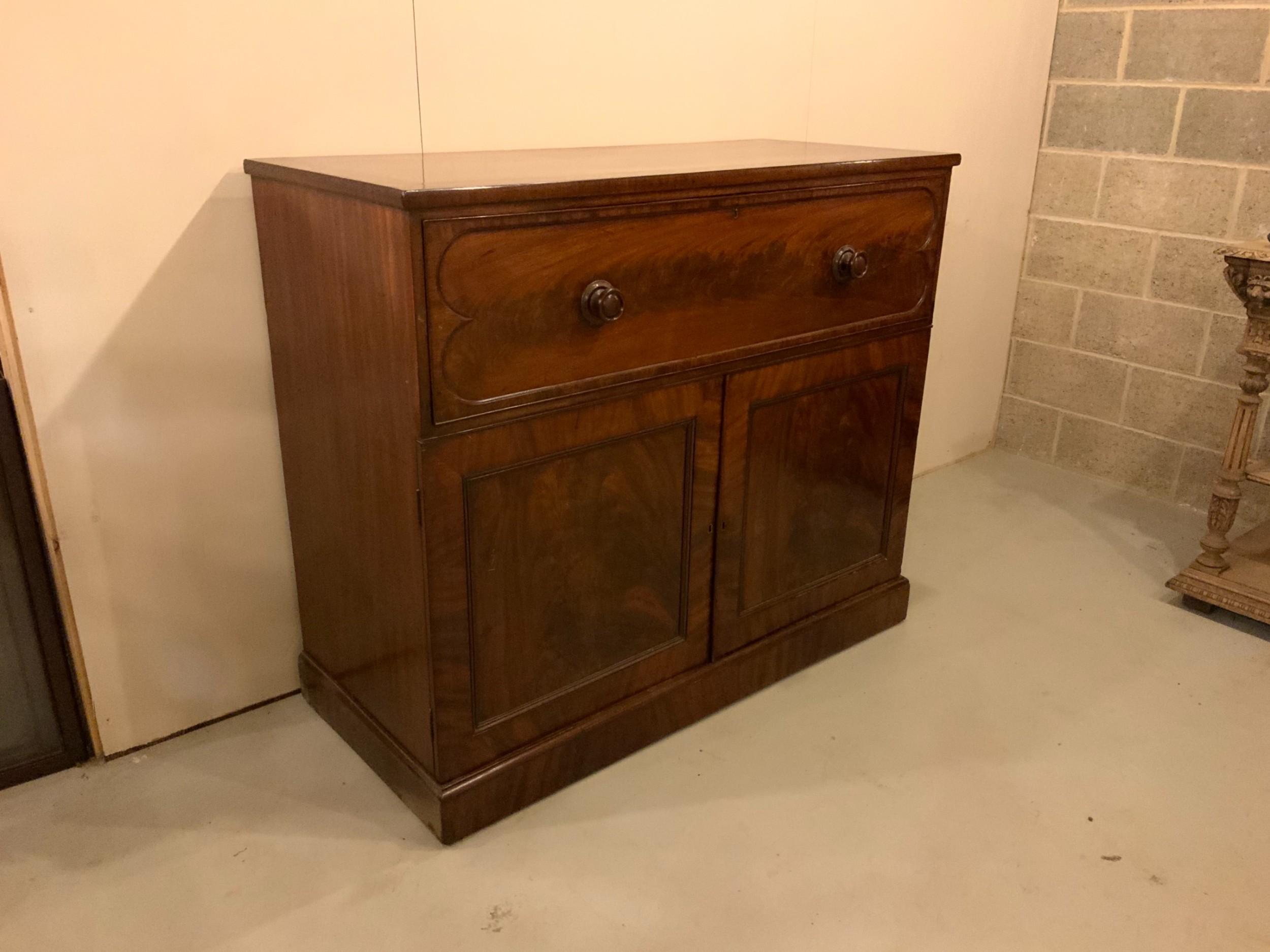 antique large mahogany secretaire chest