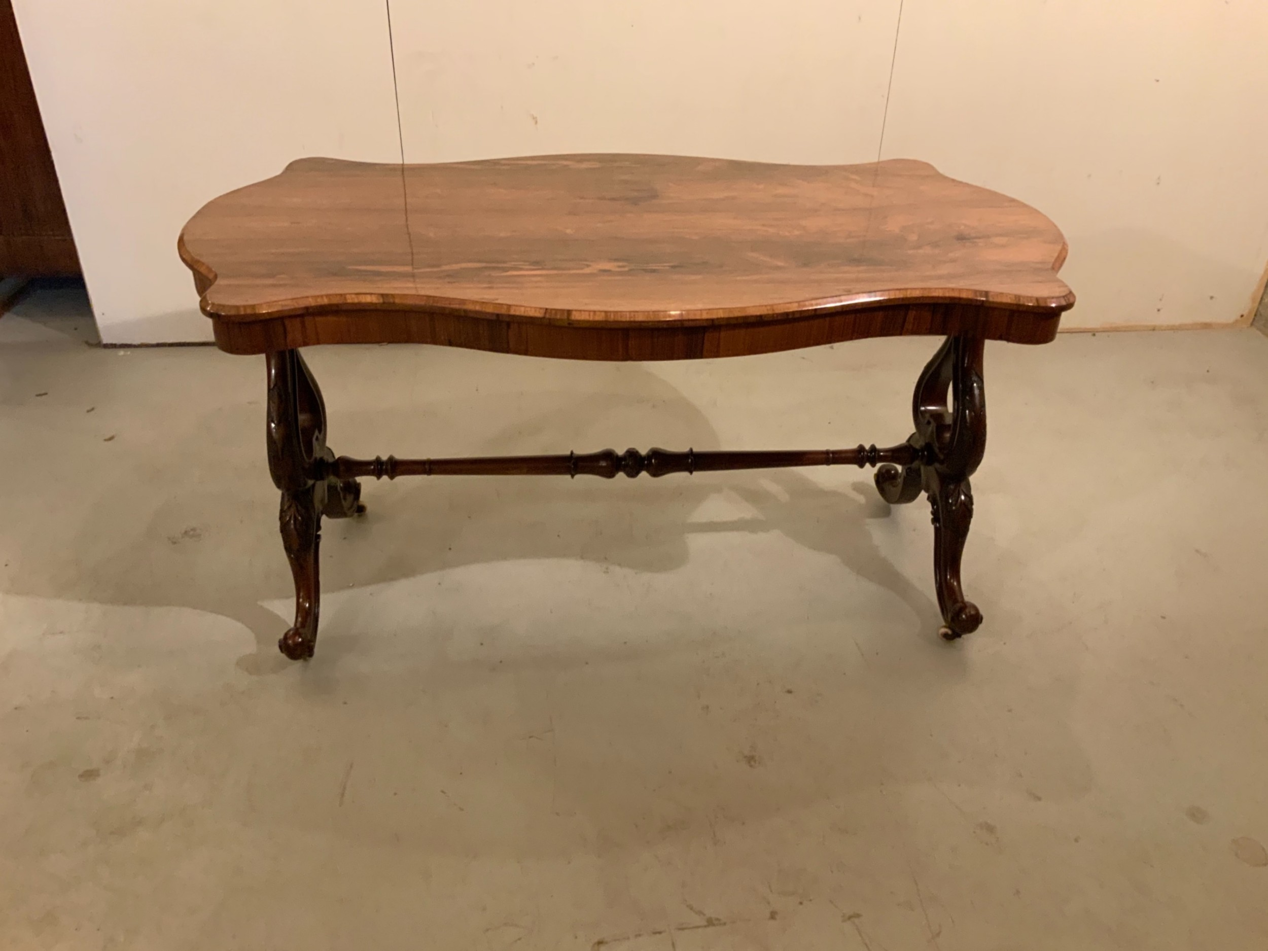 antique english rosewood centre table