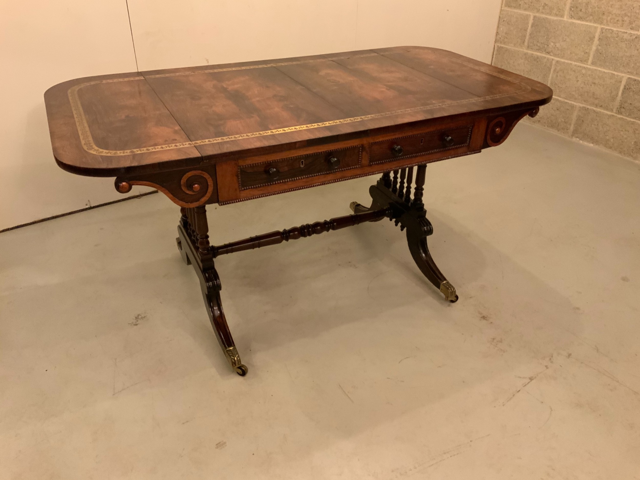english antique rosewood sofa table