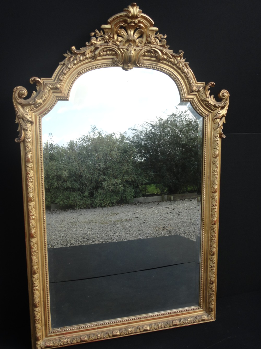 French gilt overmantle mirror 249250 for French mirror