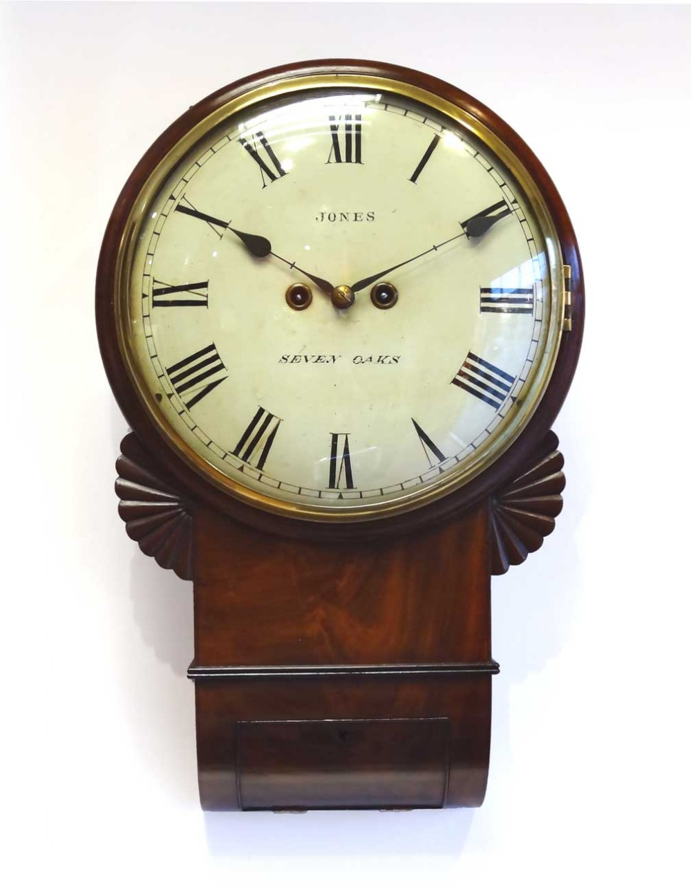 Twin Fusee Drop Dial Wall Clock 249060 Sellingantiques