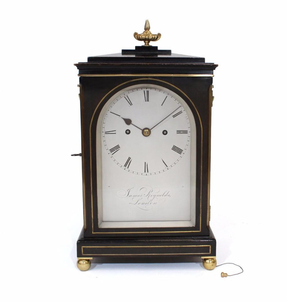fusee striking ebonised bracket clock james reynolds london