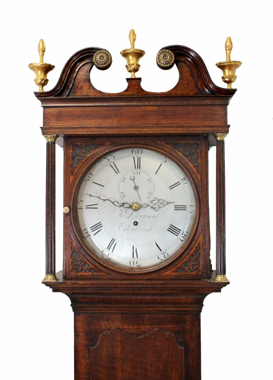 scottish longcase timepiece round silvered dial