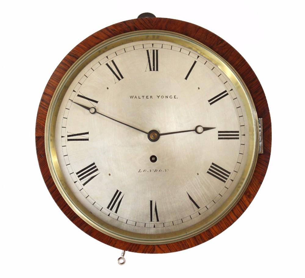 rosewood drum clock by walter yonge london