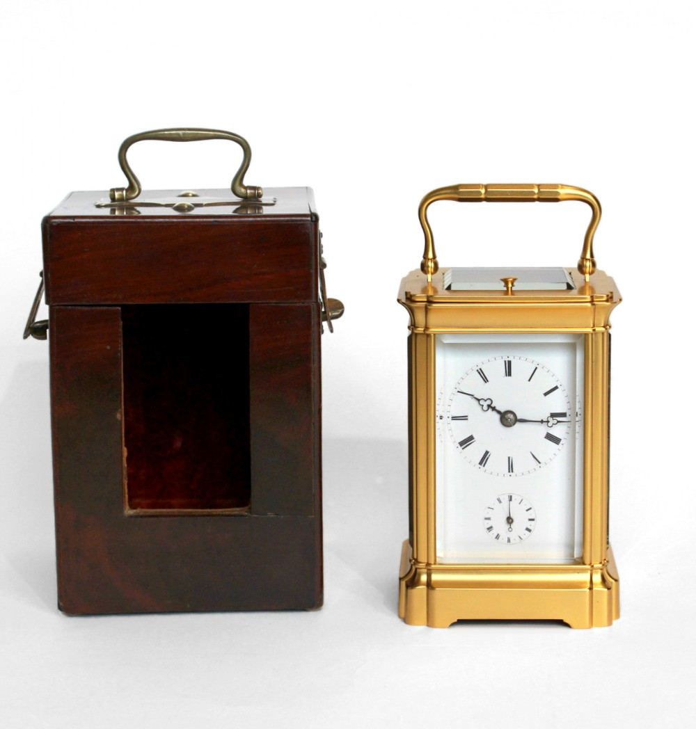 small french strike repeat alarm carriage clock
