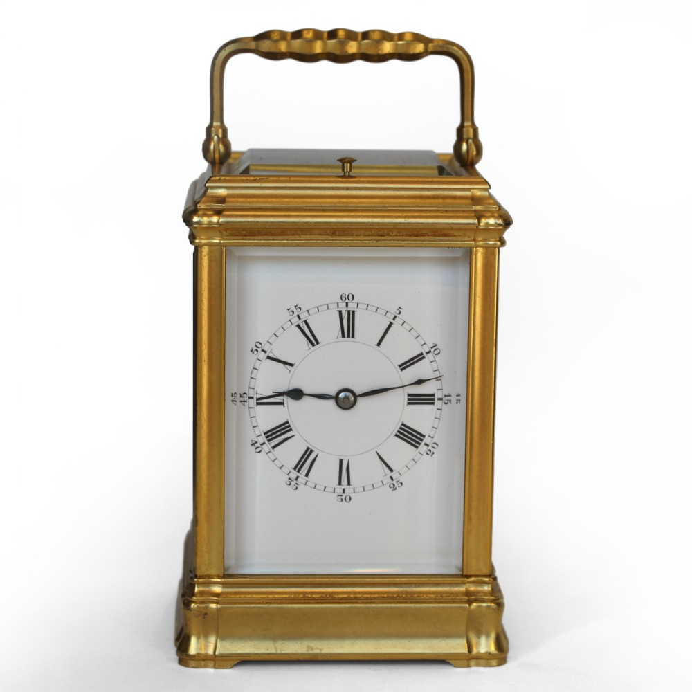 striking repeating gorge carriage clock by henri jacot