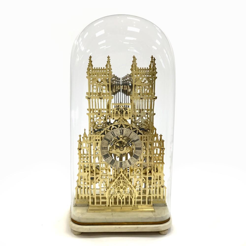 quarterchiming westminster abbey skeleton clock