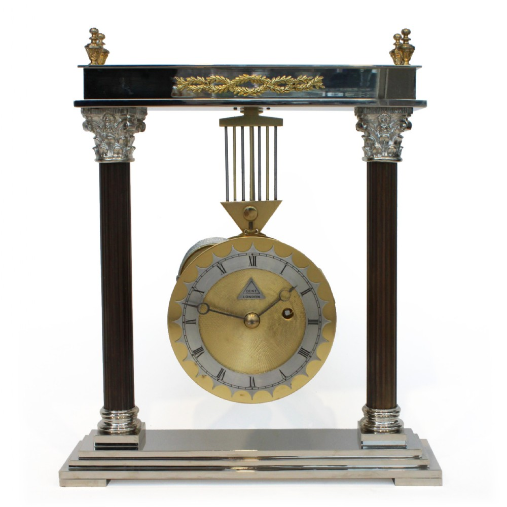 dent of london portico swinging mantel clock