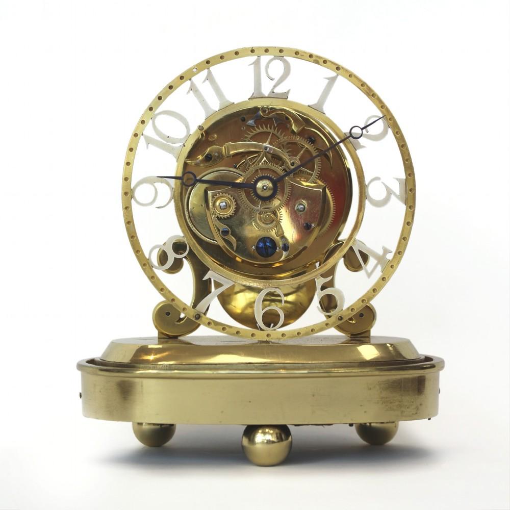 brass fusee skeleton timepiece john pace