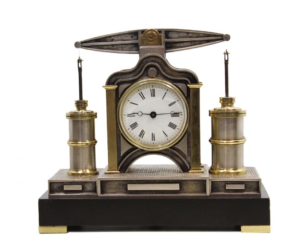 beam engine automaton clock by guilmet c1880