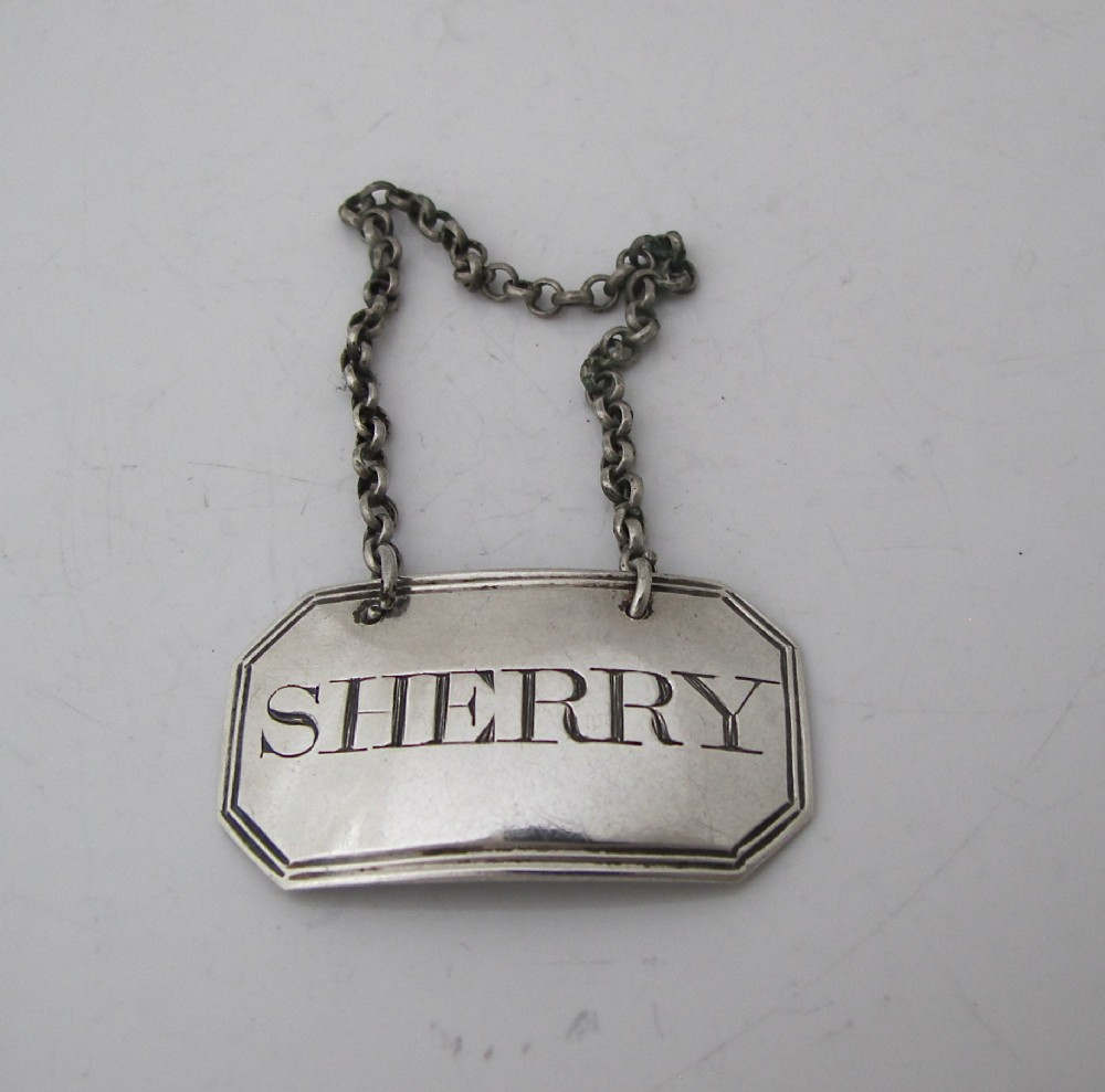 georgian silver wine label sherry thomas phipps and edward robinson london 1806