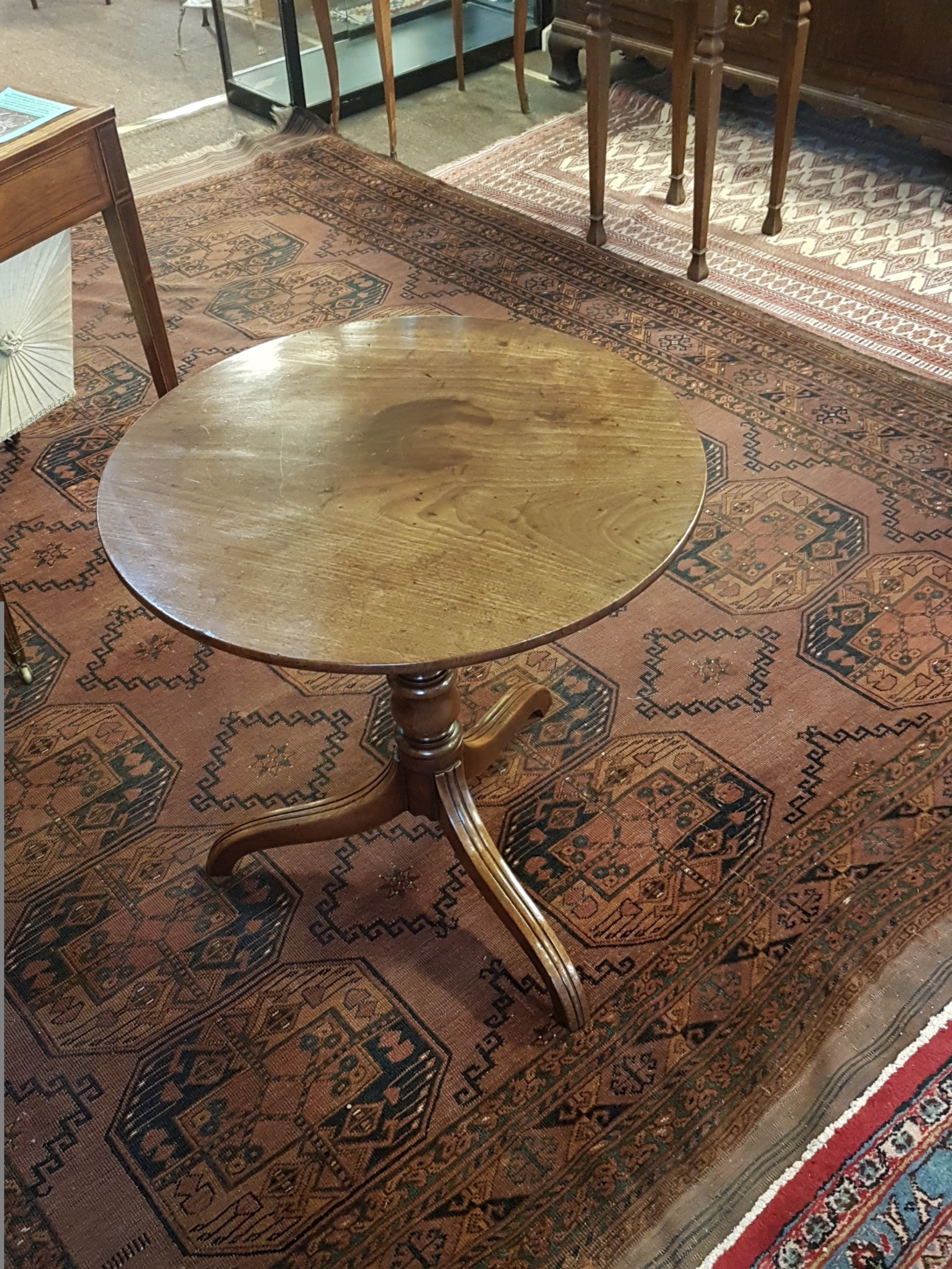 good georgian mahogany tripod wine table