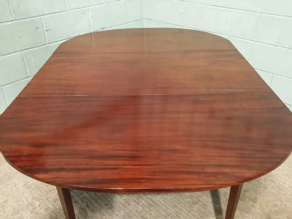 Antique regency mahogany large drop leaf dining table for Large dining table seats 10